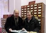 ГН Шимко и СГ Соболев перед презентацией книги