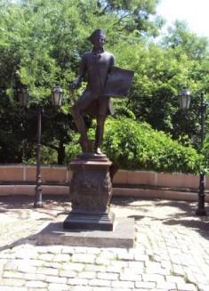 Памятник де Рибасу в Одессе. Фото автора