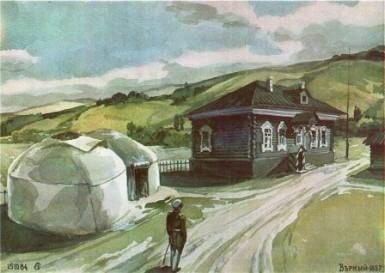 Дом пристава Большой Орды в укреплении Верное.
