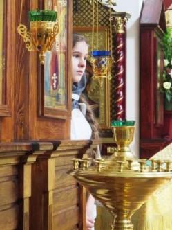 Юные певчие на молебне