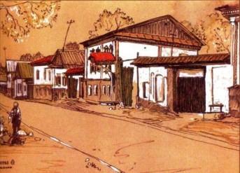 М.Ержанов. «Улица Пушкина»